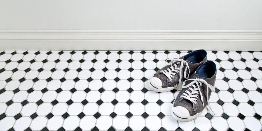 outdated bathroom floor tile pattern