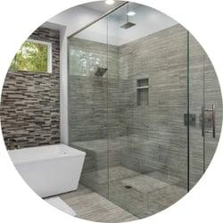 Glass Showers Bathroom Remodeling Trend Walk-In Shower Stone Tile