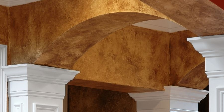 Faux stone finish outdated home remodeling