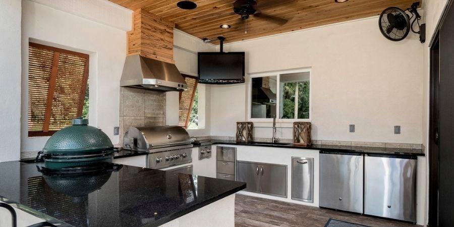 Outdoor Kitchen Florida Custom Home
