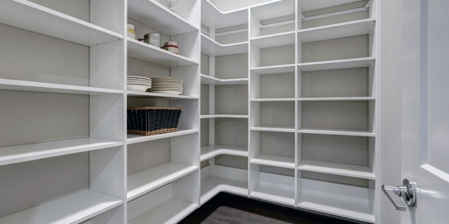 large walk-in pantry space
