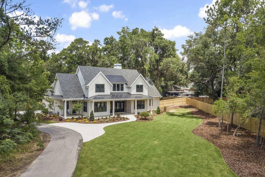 Fletcher Park Lot 5 Exterior of Modern Farmhouse Custom Home in Gainesville, FL