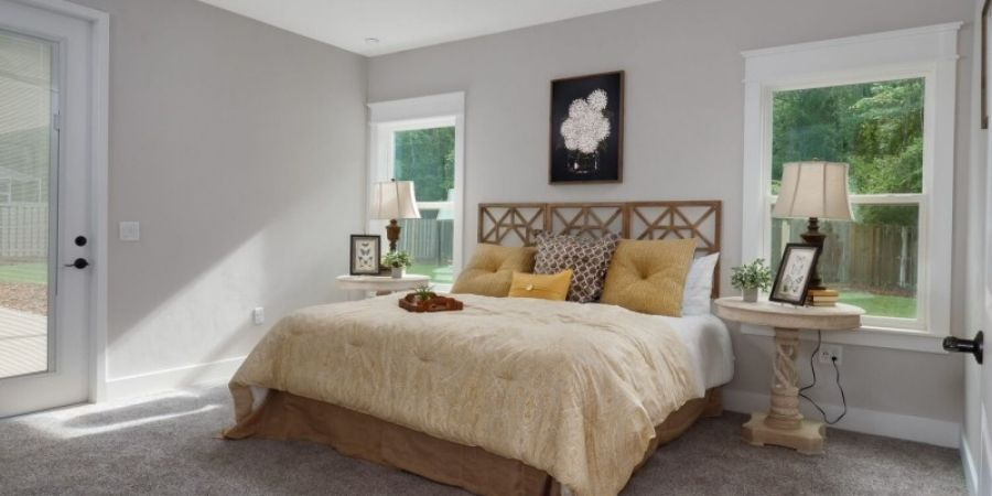 Elegant Master Bedroom Designed by Robinson Renovation & Custom Homes in Florida