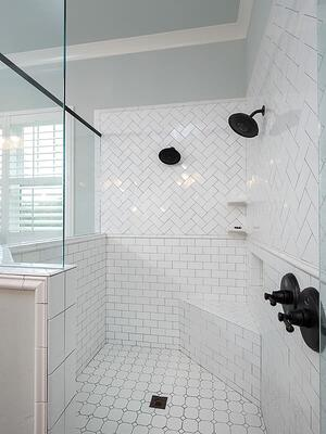Subway Tile in Gainesville Remodeled Shower